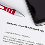 generisches Kündigungsschreiben für Mobilfunkvertrag als Sinnbild für die Vodafone Kündigung