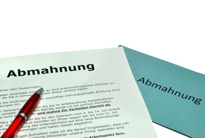 Abmahnung Muster