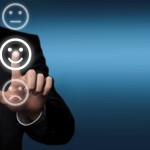 virtuelle Buttons als Smily: traurig, zufrieden, neutral