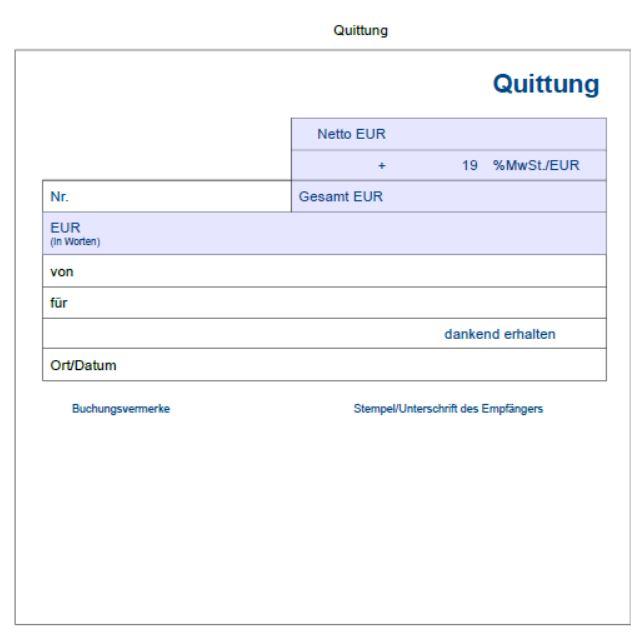 Quittungsvorlage