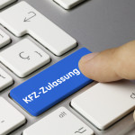 Vollmacht KFZ-Zulassung - Symbolisches Bild von Tastatur mit Taste für Zulassung statt Shift