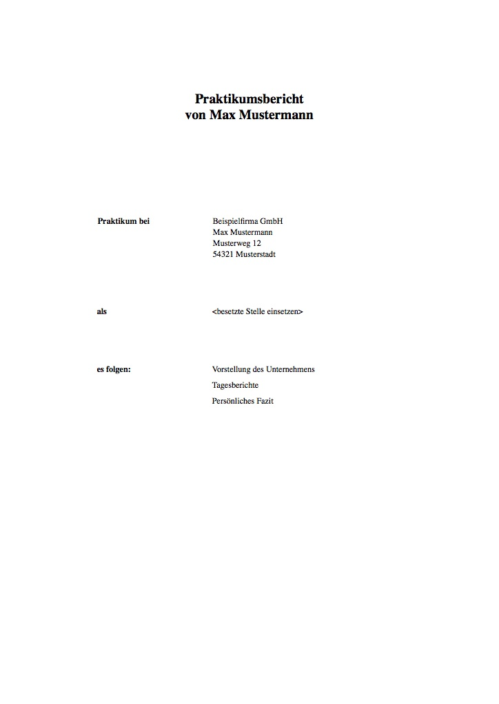 Praktikumsbericht Deckblatt › Der Mustermann
