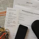 Mietvertrag und Wohnungsübergabe-Protokoll